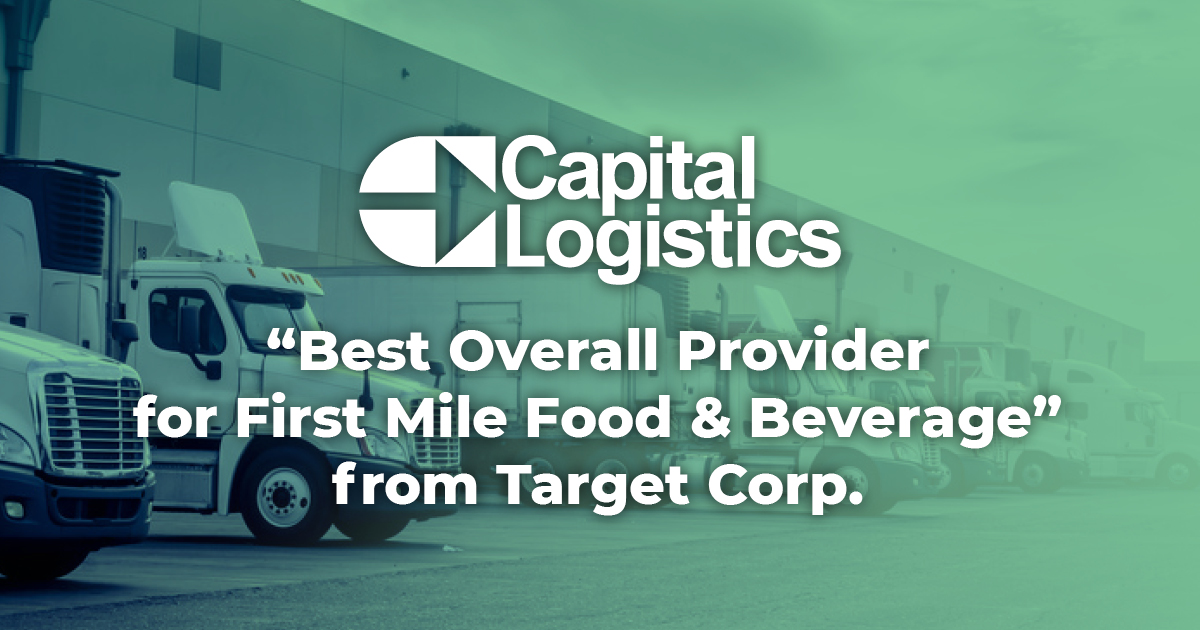 Capital Logistics - Best Overall Provider For First Mile Food & Beverage from Target Corp